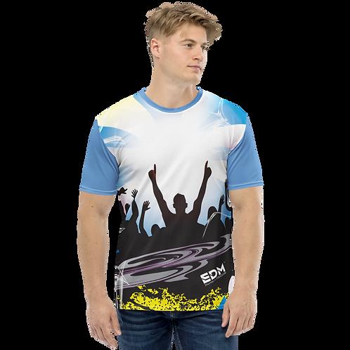 Men's T-shirt - EDM J to F Crowd - Blue/Multi