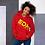 Thumbnail: Women's Unisex Hoodie EDM J to F Style 3 Print Yellow - Various