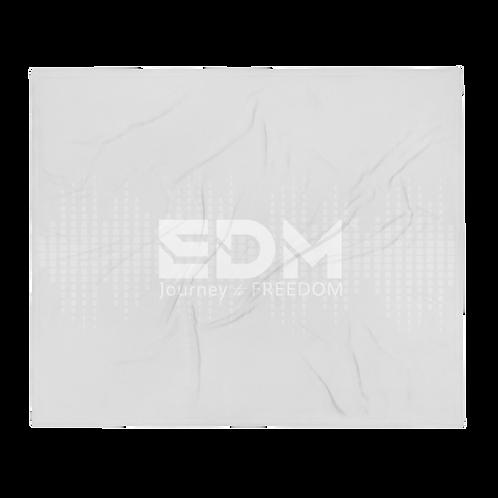 Fleece Throw Blanket - 50 x 60cm - EDM J to F Sound bars - Ice grey / White
