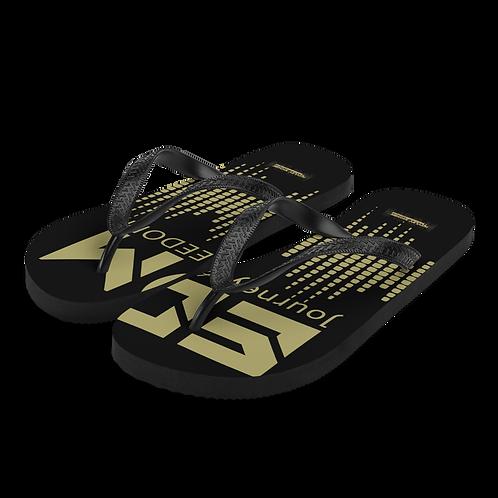 Flip-Flops Black EDM J to F Sound Bars Print - Gold