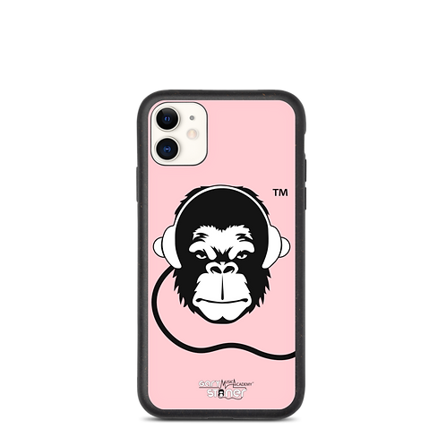 Biodegradable iphone case - GS Music Academy Ape DJ - Pink