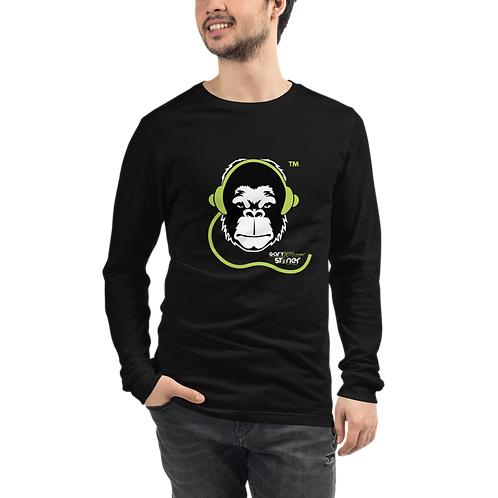 Mens Long Sleeve T-shirt - GS Music Academy Ape -Black