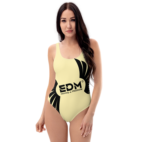 Swimsuit - EDM Journey to Freedom - Lemon / Black