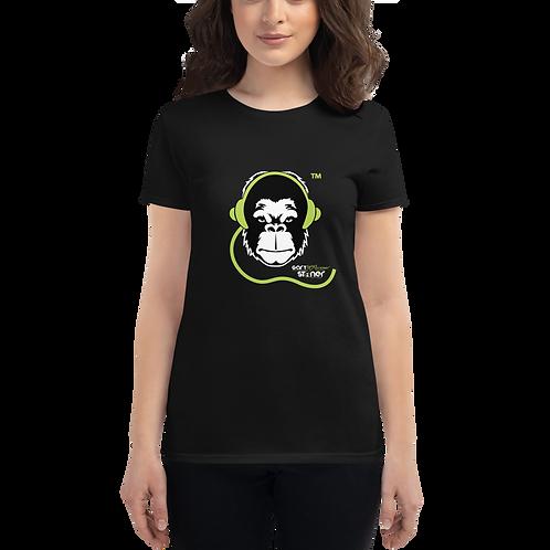 Women's T-shirt - GS Music Academy Ape DJ - Black