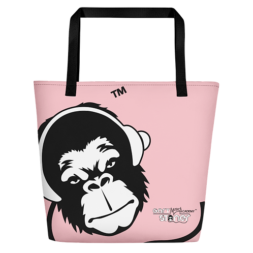 Beach Bag - GS Music Academy Ape DJ White - Pink