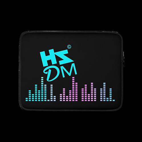 Laptop Case Zip Up - HS Design & Music Equalizer Multi Logo - Black