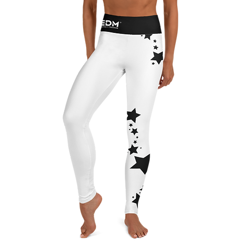Women's Leggings Black Star - EDM J to F White