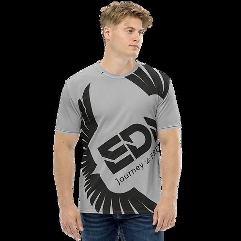 Men's T-shirt Dark Grey - EDM Journey to Freedom Large Print - Black