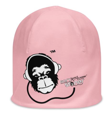 Womens Beanie - GS Music Academy Ape DJ - Pink