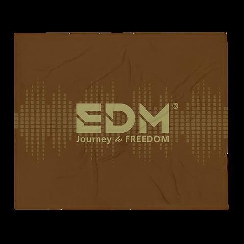 Fleece Throw Blanket - 50 x 60cm - EDM J to F Sound bars - Brown / Gold