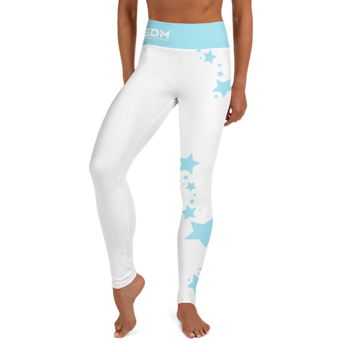 Women's Leggings Sky Blue Star - EDM J to F White