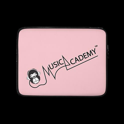 Laptop Case Zip Up - GS Music Academy Ape Text - Pink