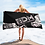 Thumbnail: Beach Towel / Towel - EDM J to F Snake Print Logo - Black / Pink