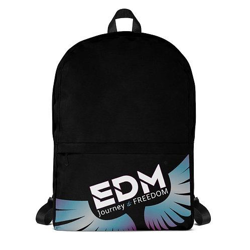 Backpack Black - EDM Journey to Freedom Print - Multi