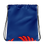 Thumbnail: Royal Blue Drawstring Bag - EDM Journey to Freedom Large Print - Red
