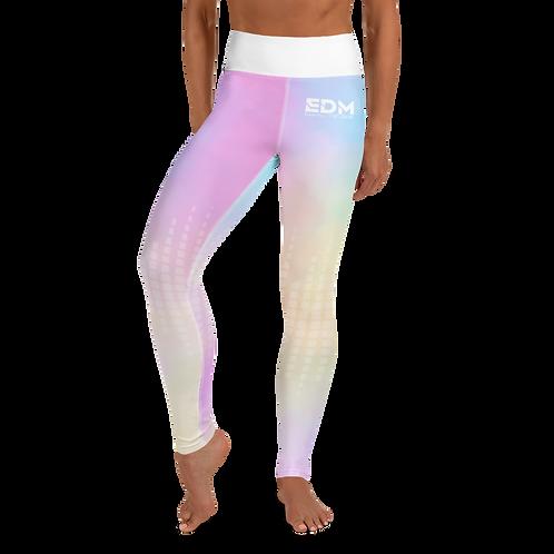 Women's Leggings Tye Dye Pastels - EDM J to F Sound Bars White