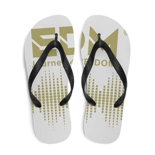 Flip-Flops Ice Grey EDM J to F Sound Bars Print - Gold