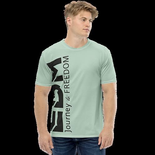 Men's T-shirt Sage - EDM Journey to Freedom Large Print - Black