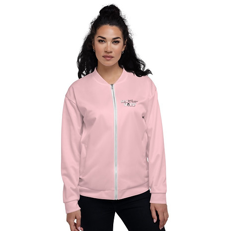 Women's Unisex Fit Bomber Jacket - GS Music Academy - Pink