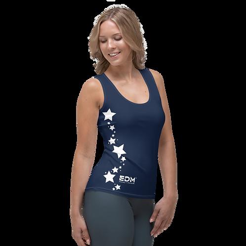 Women's Vest - EDM J to F White Star - Navy