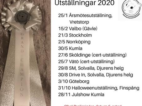 Utställningsplaner 2020