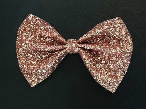 Rose Gold Glitter Dog Bow Tie