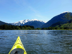 View up the Bella Coola valley