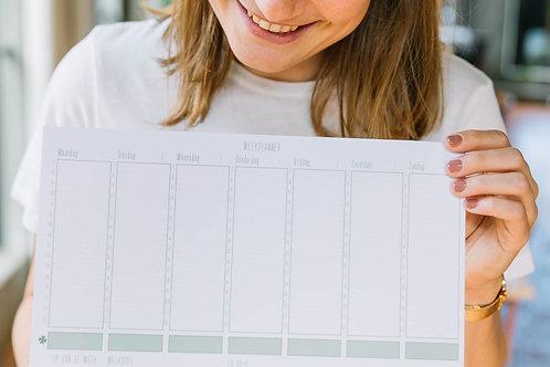 COMBIPAKKET GROEN (= weekplanner + stickerset)