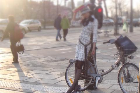 巴黎的自行車通勤族