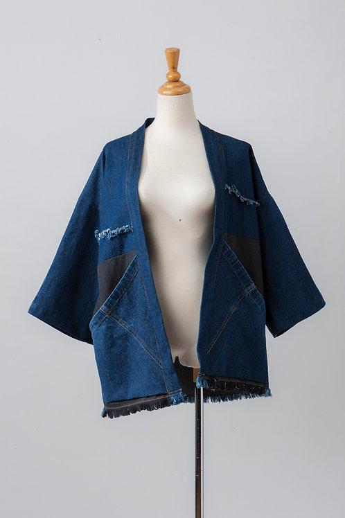 Christa共享工作室 二手年仔褲重製日式短衫