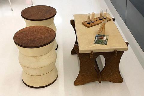 現在你可以買到由蘑菇製成的家具
