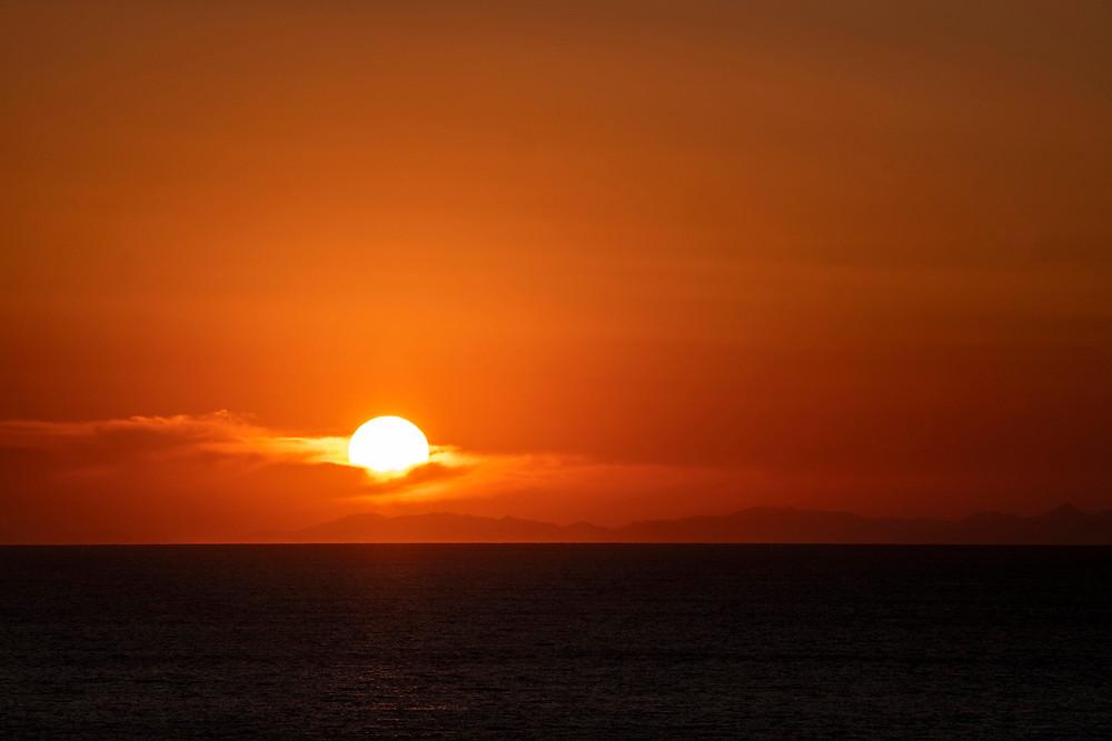 tramonto verso l'isola di Maiorca