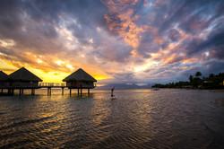 Tahiti Sunset on the beach