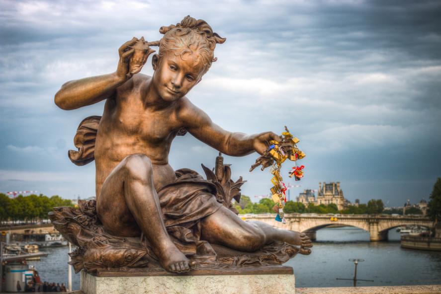 The Lock Keeper - Pont Alexandre III, Paris - France