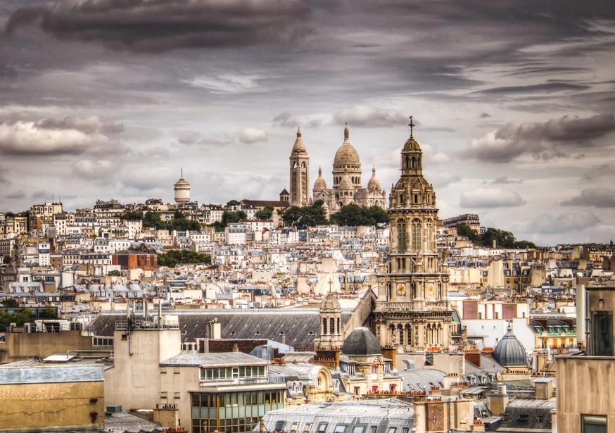 Stormy Skies Over Paris