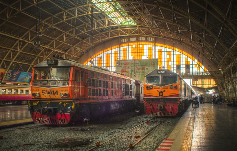 Arriving at Hua Lamphong - Bangkok, Thailand