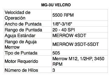 Tabla MG-3U VELCRO