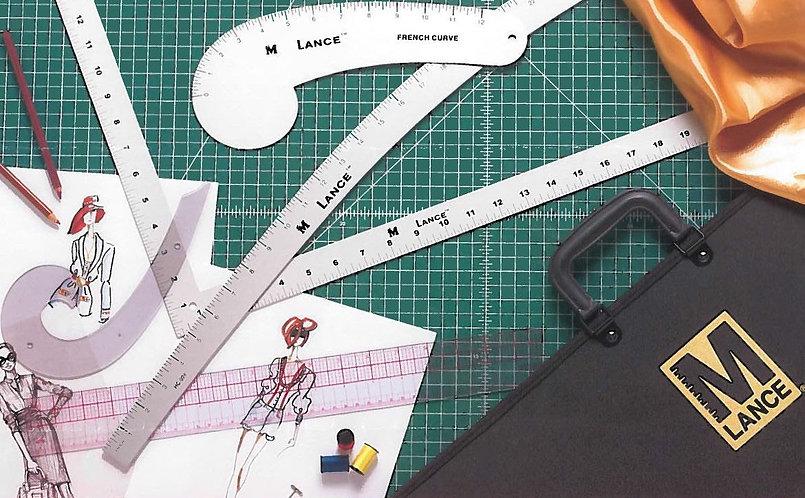 (BCC-I-LAN) Kit 5 Reglas Para Diseñador + Portafolios Marca Lance