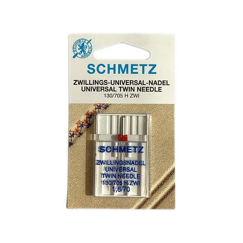 (S130/705H-ZWI/70) Aguja Gemela Gauge 1.6mm Schmetz