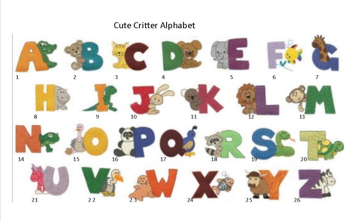 cute critter alphabet_edited
