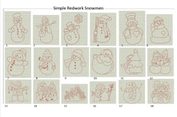simple redwork snowman_edited