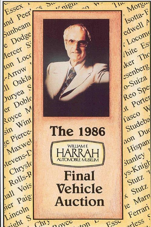 The 1986 Harrah Automobile Collection Final Auction - CLASSIC!
