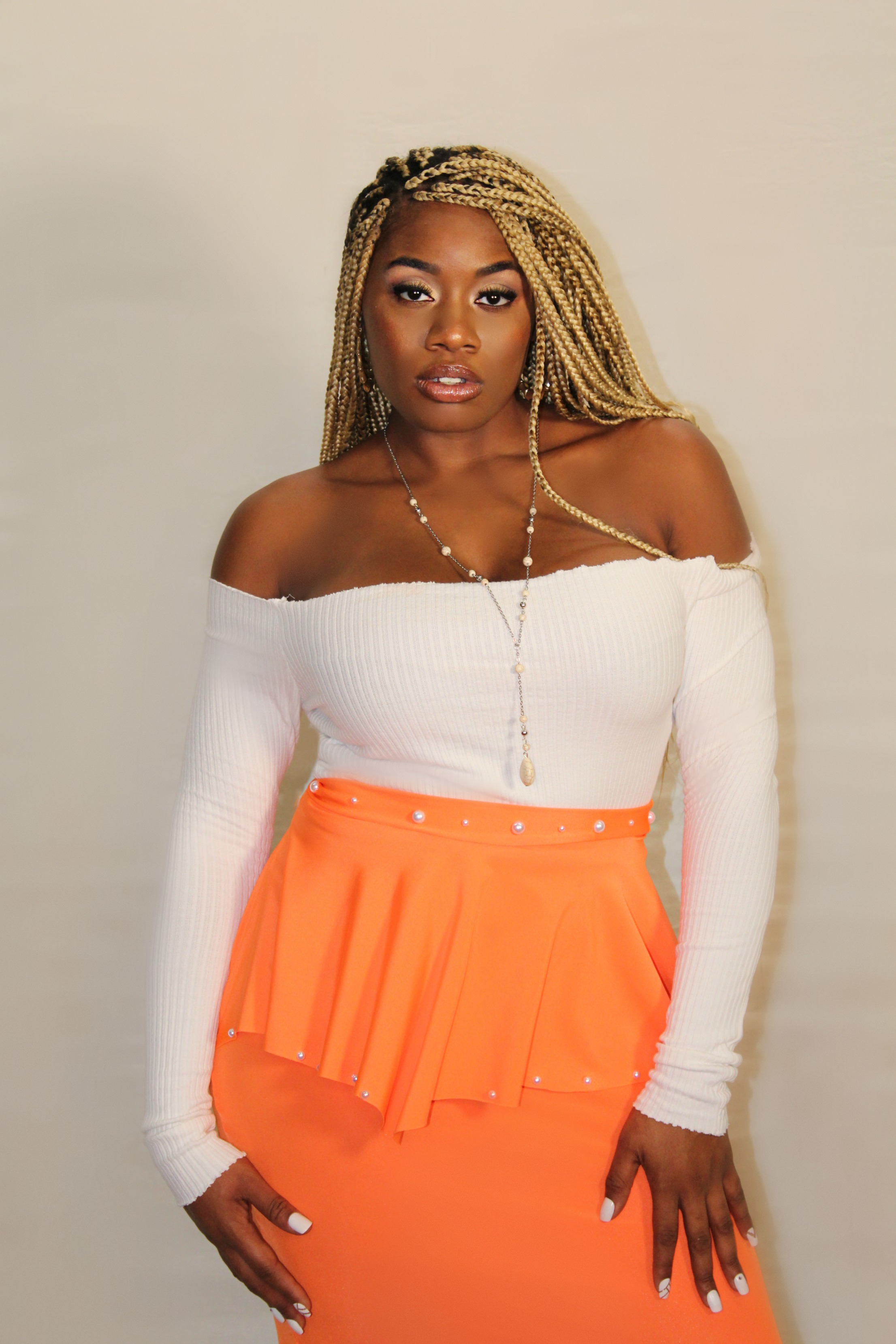 Shatina Pearl Skirt Orange