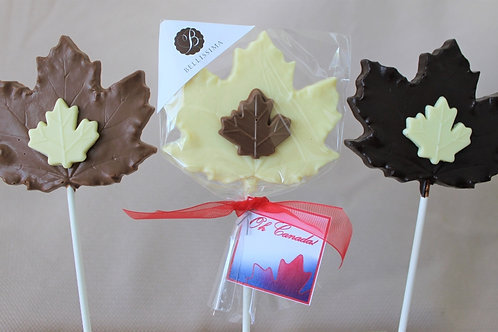 Belgian Chocolate Leaf Lolly