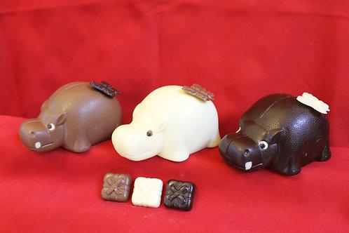 Chocolate Christmas Hippo