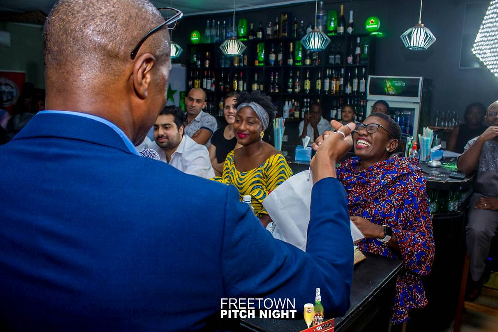 Seen here - the recent Freetown Pitch Night - Mayor's special was standing room only.