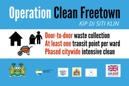 OPERATION CLEAN FREETOWN WEEK 5: REVISED SCHEDULE