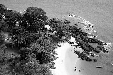 A beautiful beach in Sierra Leone, West Africa
