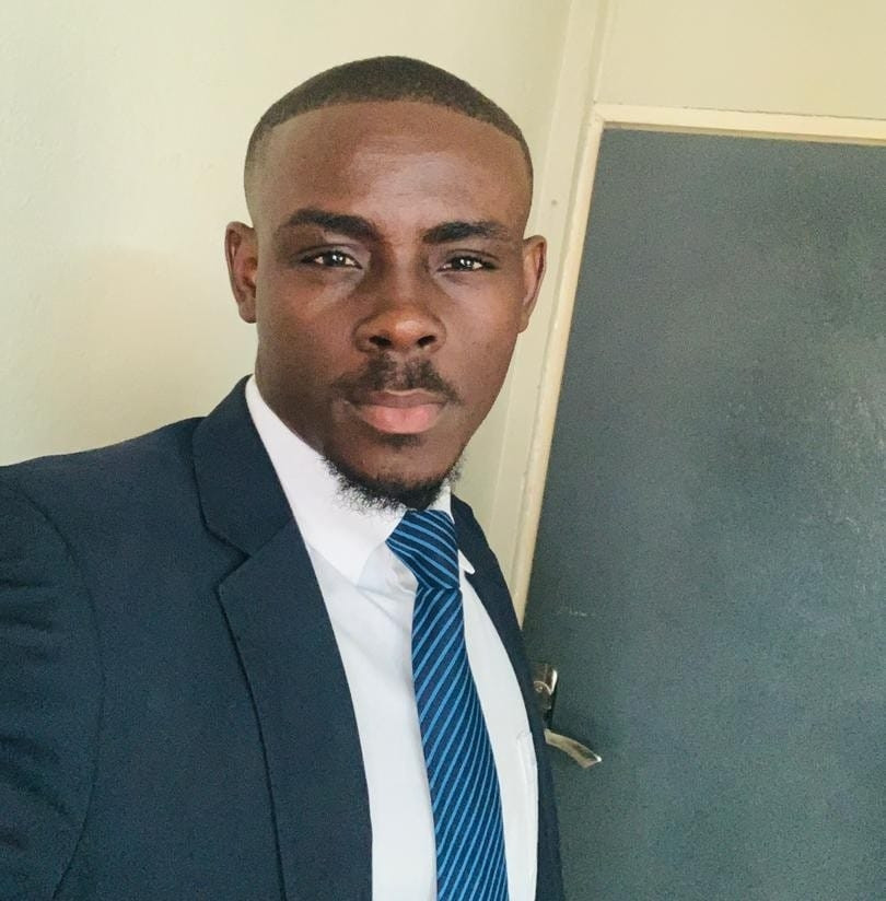 Mario Mackay - lawyer, writer, public speaker and one third of the popular Sierra Leonean podcast - Plasa and Poya
