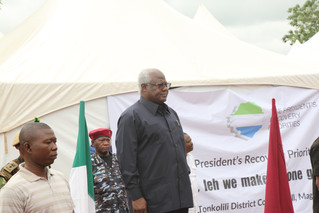 Sierra Leone's road to recovery boosted with the launch of The President's Recovery Priorities in Ma